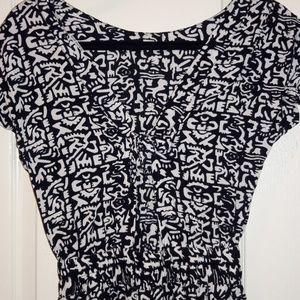 Passport Dresses - Black & White Designed Maxi Dress